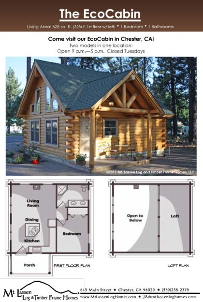 Eco Cabin Mt Lassen Log Amp Timber Homes Floor Plan