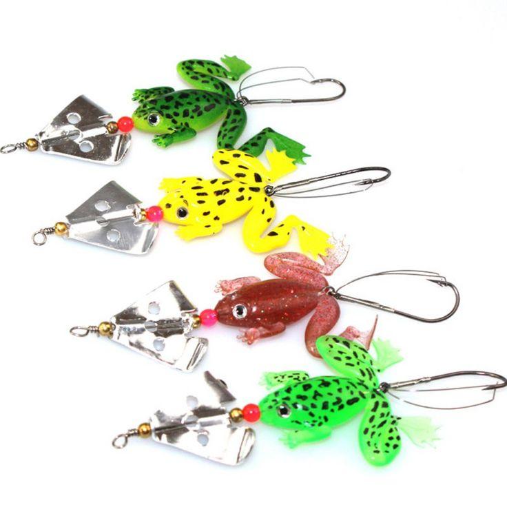 Rubber Frog Soft Fishing Lures Bass CrankBait Tackle 8cm 6.2g Fishing Tackle Bass Crank Bait Sinking iscas de pesca #Affiliate