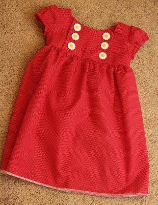 Junebug Dress Tutorial. This is cute.