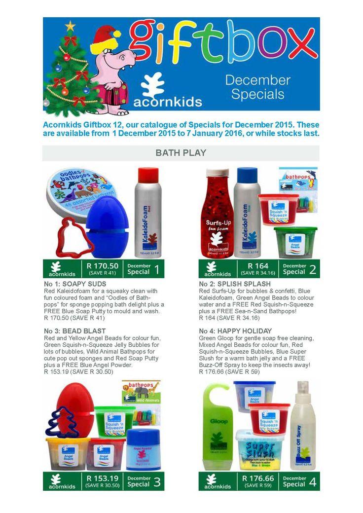 Acornkids December Specials