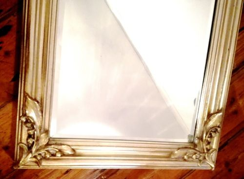 Buy Gold Gilt Gesso french Mirror with beautiful art nouveau style influence - lily of the valley designfor R3,800.00