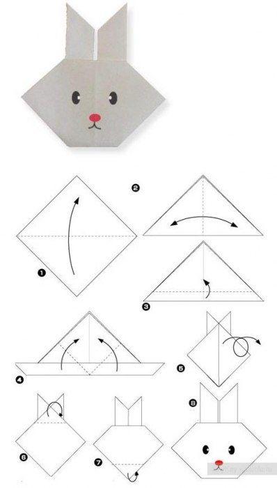 Conillet d'origami. Hi ha més models en aquesta pàgina.