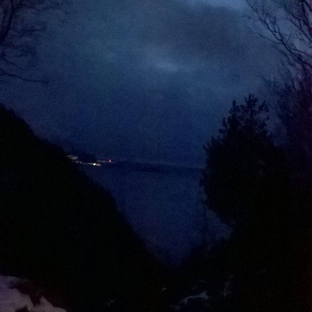 Aksla in Ålesund, Norway. Late evening. Fantastic blue light hour.