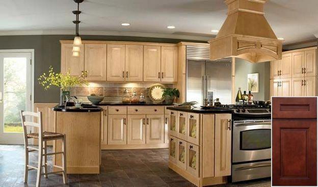Tips On Oak Cabinets With Dark Backsplash Oakkitchencabinets Kitchencabinets Kitchen Wall Colors Light Wood Kitchens Kitchen Design