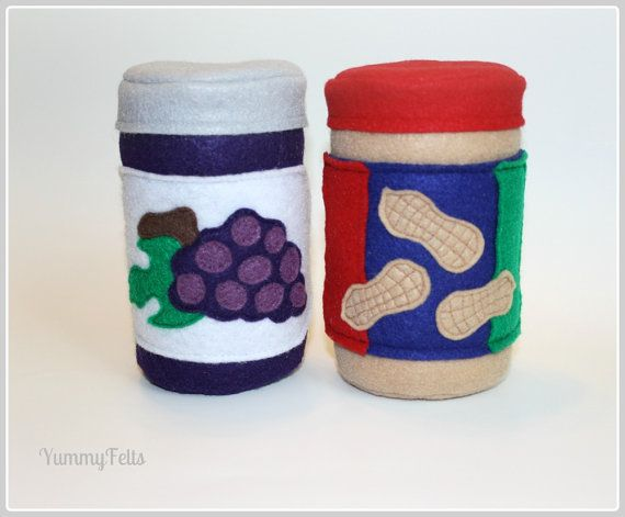 Felt Peanut Butter and Jelly Jars