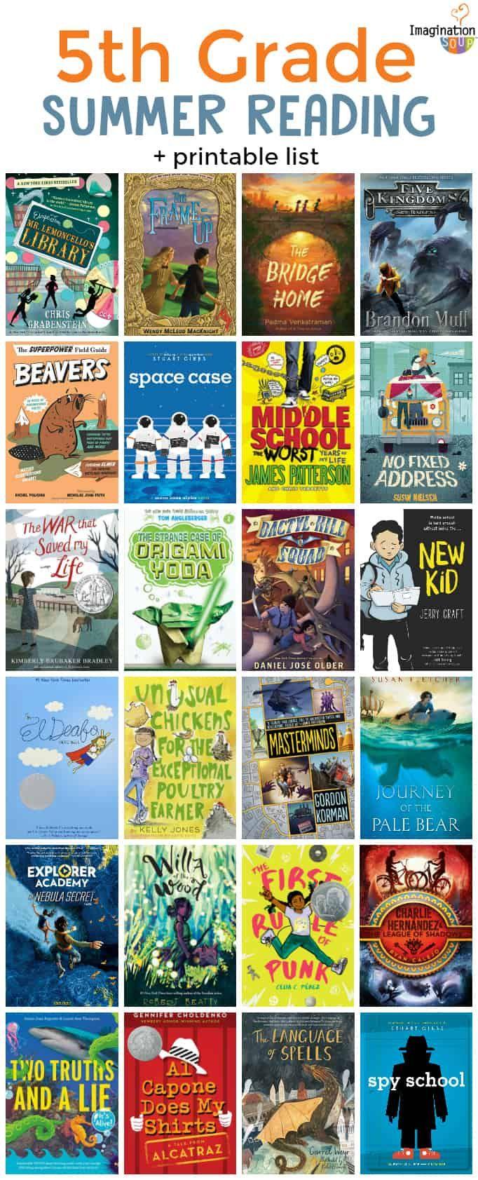 5th Grade Summer Reading List Ages 10 11 Kids Summer Reading Summer Reading Summer Reading Lists What books should grade be reading