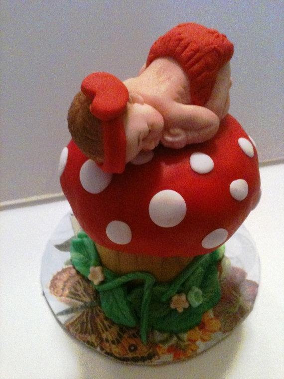 Baby Sitting on a Mushroom by anafeke on Etsy, $25.00