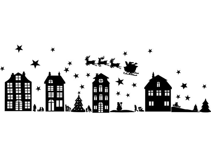 Winter Kerst tafereel stickervel – Lipdus Raamstickers