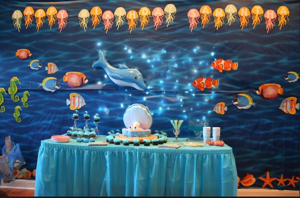 these will be great idea---- we can make a wall as  in a sea theme so that we can use it as backdrop for photos