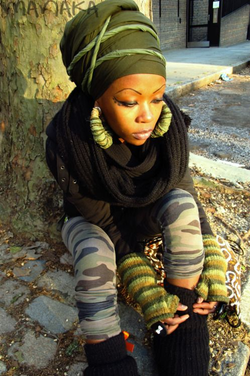 love the earrings with the headwrap