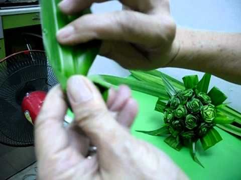 How to make roses out of palm sunday palms!  I am going to try this!