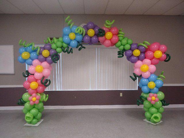 Balloon flower arch #balloonbackdrop #party