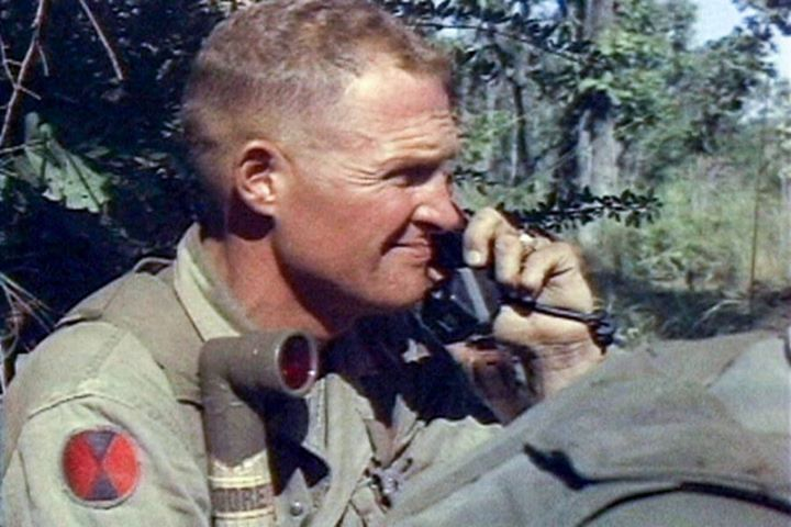Lt. Col. Hal Moore during the Battle of Ia Drang November 1965.