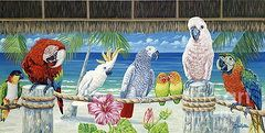Danielle Perry Art - Parrots in Paradise by Danielle Perry