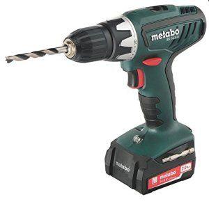 Metabo 602105570 Perceuse-visseuse sans fil 14,4 V 2 Ah avec mallette/2 batteries