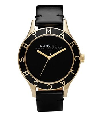 WHY CAN'T I FIND THIS WATCH TO BUY!!!! UGH Marc by Marc Jacobs Watch, Women's Blade Black Patent Leather Strap MBM1169