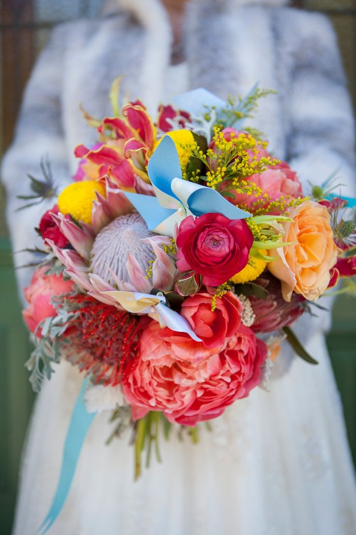 Erin's bridal bouquet, king protea,coral peony Floral Stylist ,Joanna Walker Wedding Photography_0021