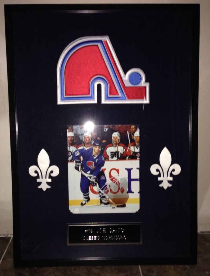 Joe Sakic Quebec Nordiques frame - Contact me at macdonalds.sportsframes@yahoo.ca if you have any questions or would like to request a frame.