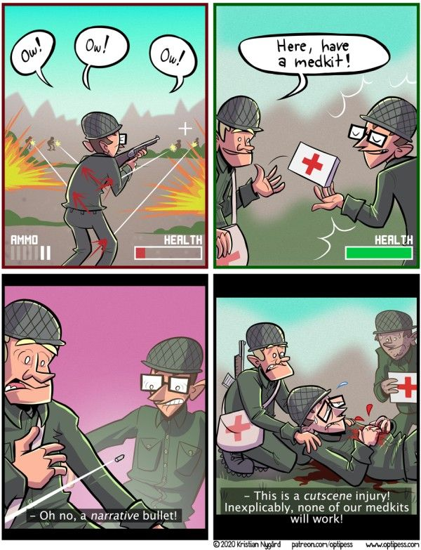 Video Game Illogic Comic Funny Gaming Memes Funny Games Comics