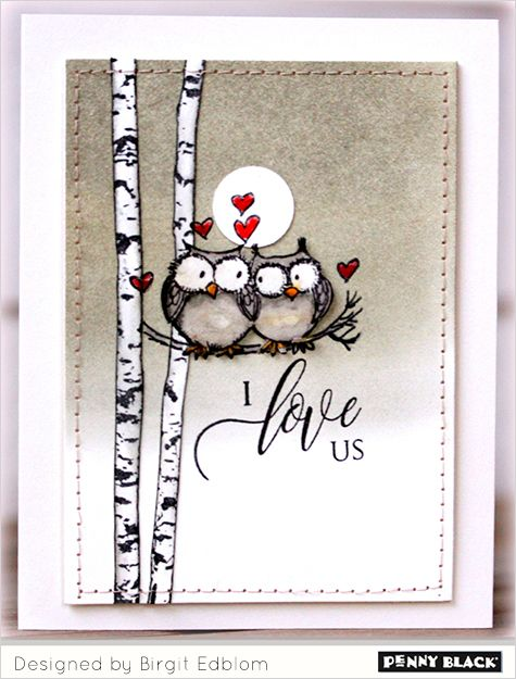Featuring Penny Black's newest release of love-themed stamps and dies... click through for more and a GIVEAWAY
