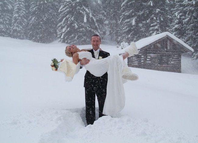 Снежная свадьба в Австрии