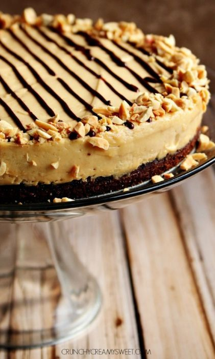 Peanut Butter Mousse Chocolate Cake – rich and moist chocolate cake with creamy peanut butter mousse that melt's in your mouth!