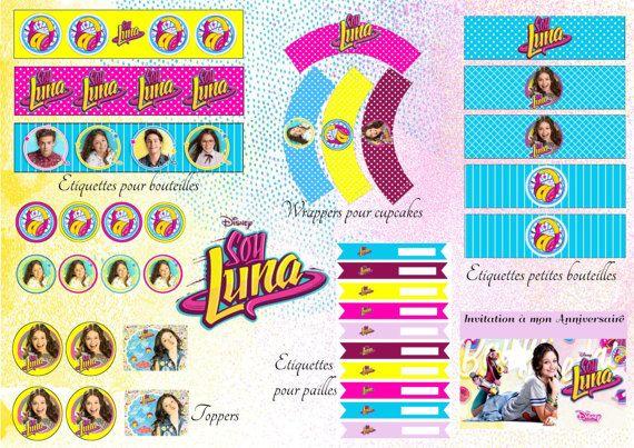 Imprimable Soy Luna fête d'Anniversaire par MesImprimablesDeFete