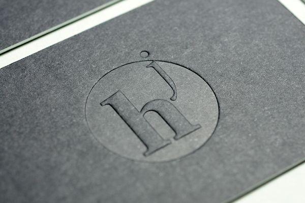 Julien Hauchecorne | Business card | Diffraction by Denis Mallet, via Behance