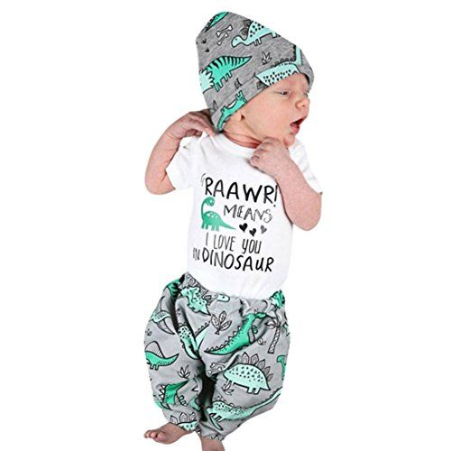 ead9e0346 Get Offer Newborn Infant Baby Boy Girl 3Pcs Outfits Set