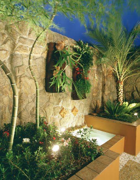 iluminacao jardim verde: Jardim en Pinterest