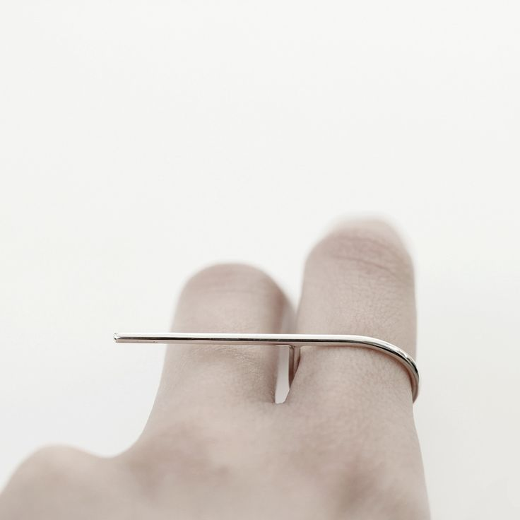 Sleek Line Ring - bold simplicity; minimal jewellery // Mirta