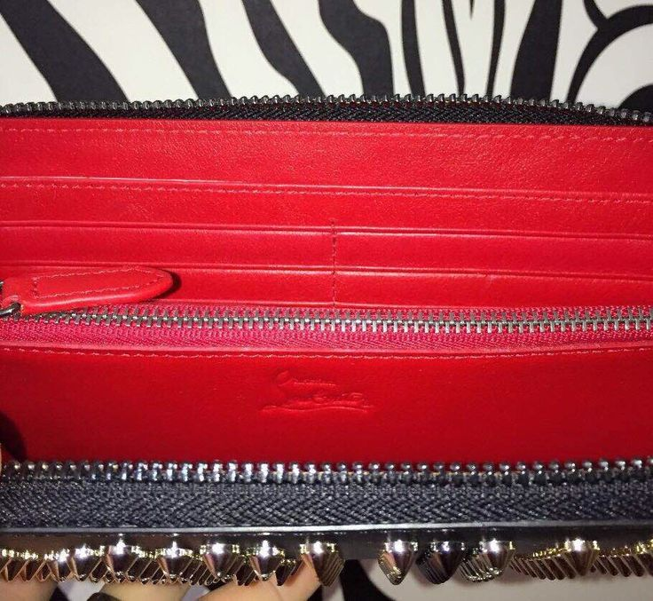 Louboutin Wallet / Clutch with Spikes Men's Fashion customize , handmade pre-order Email:wangxia11073@hotmail.com