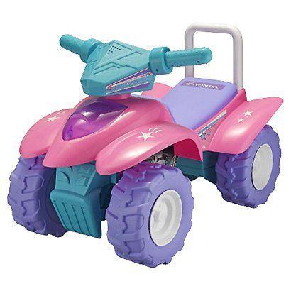 $39.99  Tek Nek Honda Superstar Girl's Pink ATV Ride with Lights, Sounds