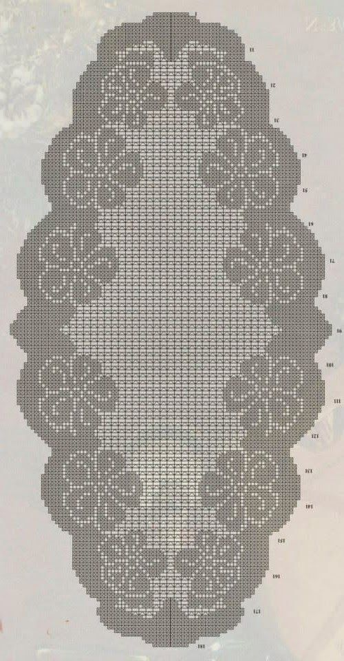 Kira crochet: Crocheted motif no. 351
