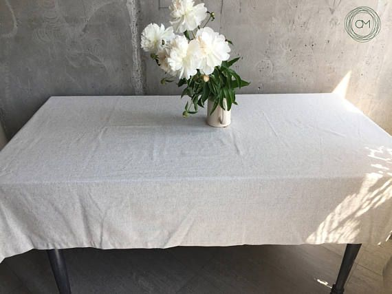 Cotton table linen Cotton fabric Table gift Cotton tablecloth Organic linen Eco friendly linen Natural cloth Hemp fabric Rectangle linen