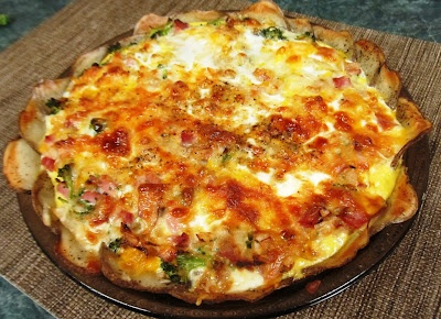... Healthy & Low Calorie: Broccoli, Ham & Cheese Quiche with Potato ...