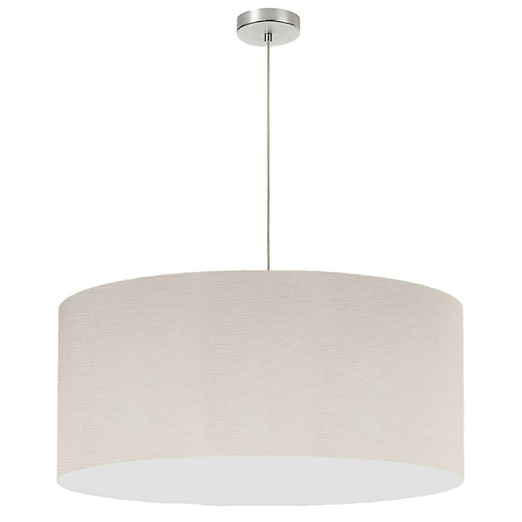 Filament Design 1-Light Beige Pendant with Electroplated Steel Shade