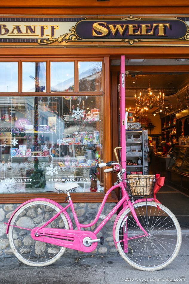 A guide to three perfect winter days in Banff, Canada! Candy shops sit on almost every corner in downtown Banff.