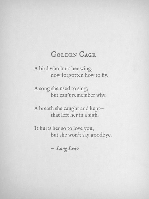 Golden Cage by Lang Leav
