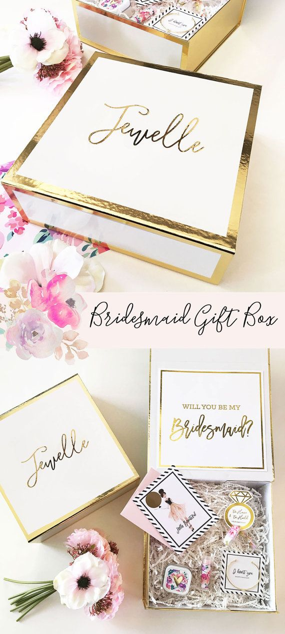 Bridesmaid Proposal Box Will You Be My Bridesmaid Box Bridesmaid Proposal Gift Will You Be My Bridesmaid Gift Box by MOD PARTY