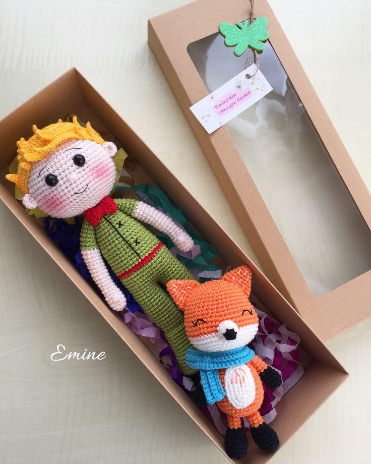Boy and fox doll