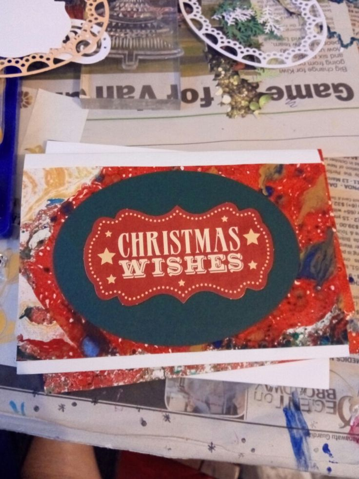 Loved using marbled paper for quick Xmas cards