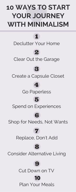 10 ways to be a minimalist
