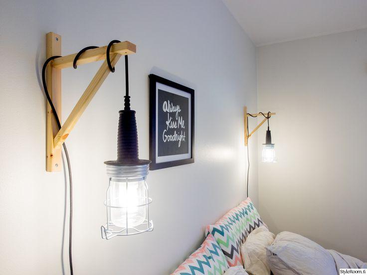 makuuhuone,Tee itse - DIY,seinävalaisin,roikka,valaisin