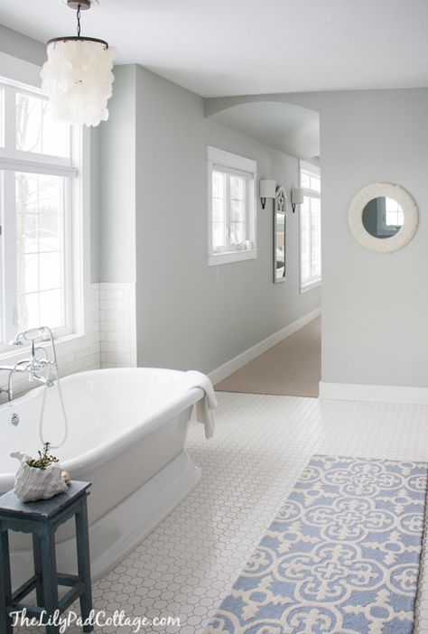 Arctic Grey By Benjamin Moore The Lilypad Cottage Master Bathroom Decor Top Bathroom Design