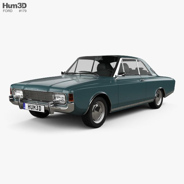 3d Model Of Ford Taunus P7 20m Coupe 1968