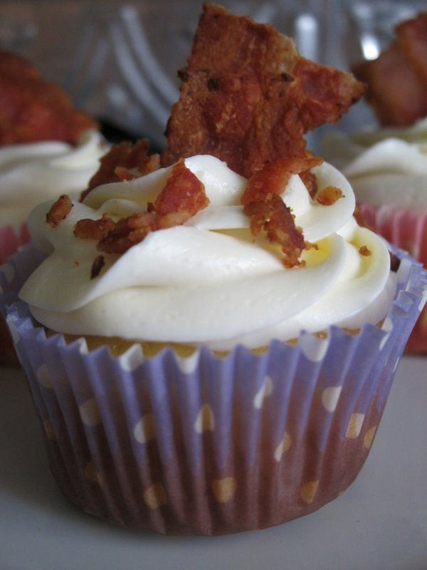 Bacon Topped Cupcakes