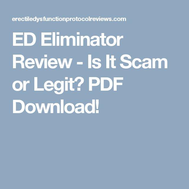 ED Eliminator Review - Is It Scam or Legit? PDF Download!