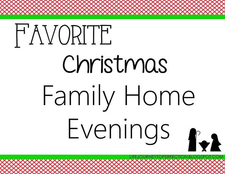 Favorite Christmas Family Home Evenings