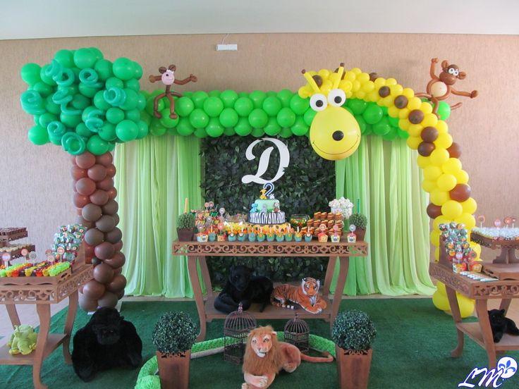 decoraciones con globos estilo selva - Google Search